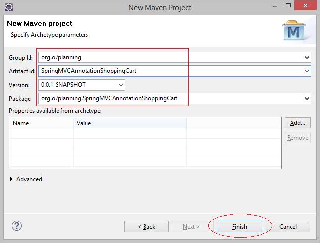 Web Application using Spring MVC